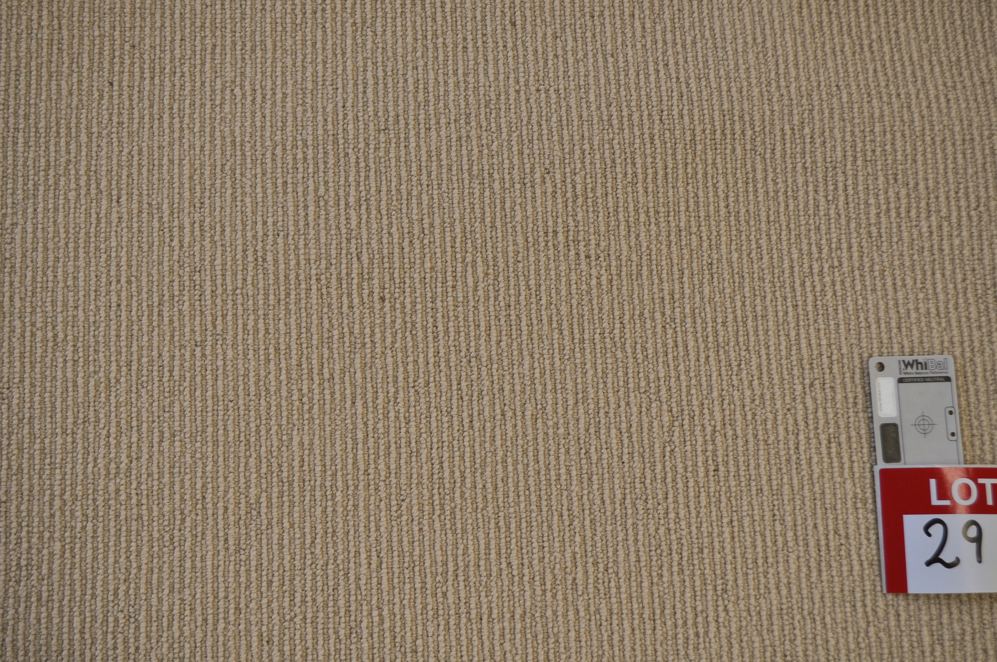 yellow beige colored, sisal loop pile roll of carpet on sale at Concord Floors, it being a remnant roll in Concord Floor's warehouse.