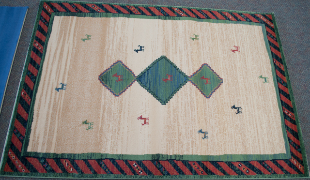 a rug for sale.
